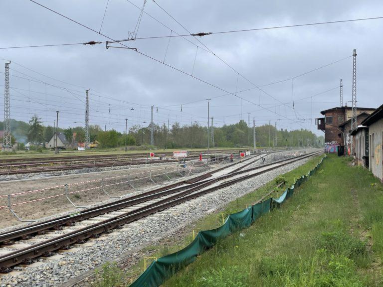 Bauarbeiten Kehrgleis Bahnhof Königs Wusterhausen, Foto: VBB GmbH