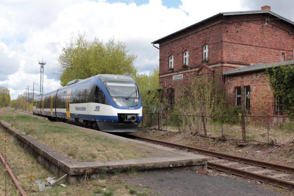 Sonderfahrt der Heidekrautbahn auf der Stammstrecke, Foto NEB